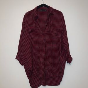 Zara Flannel Tunic